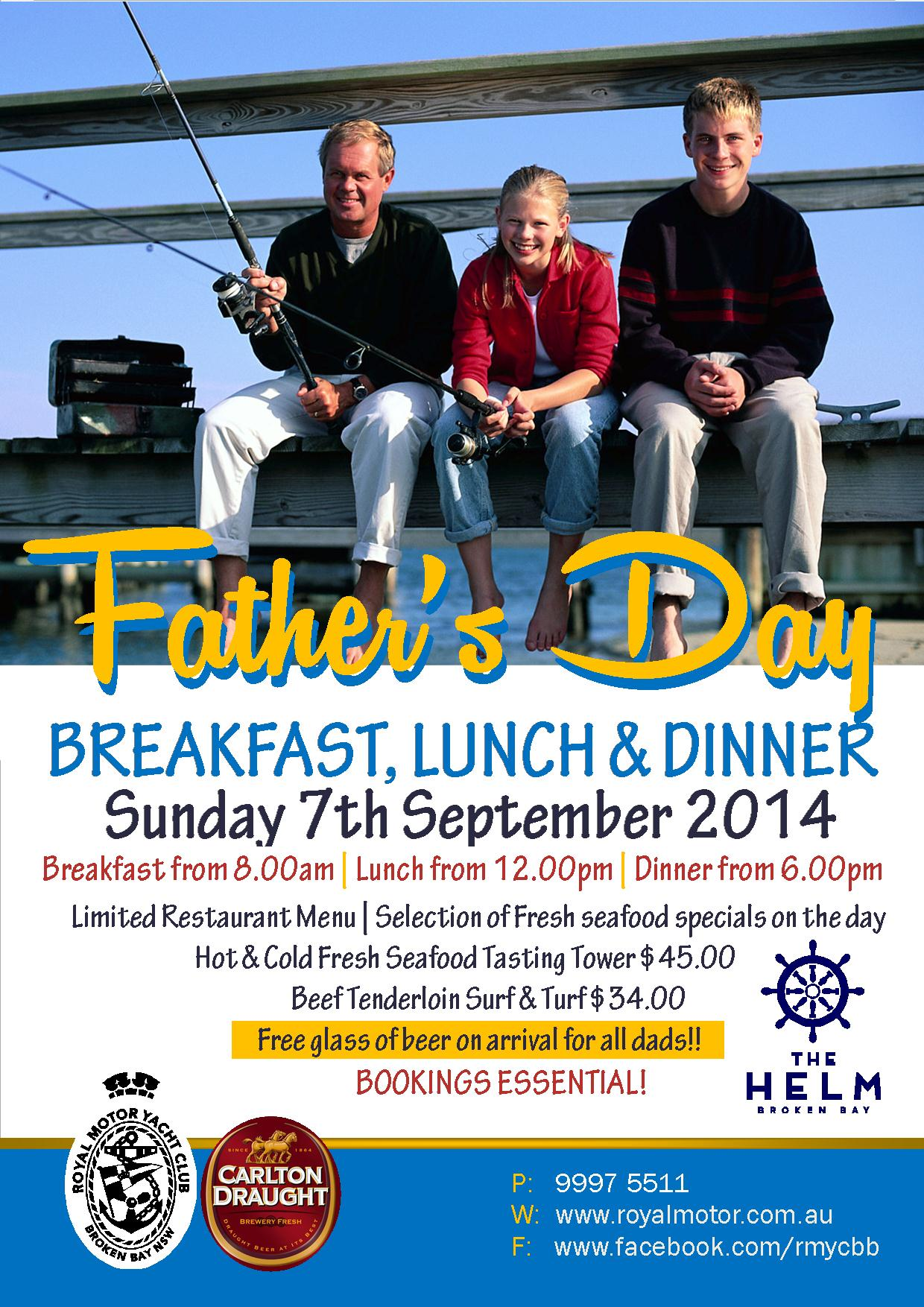 Fathers Day Flyer 2014 A4