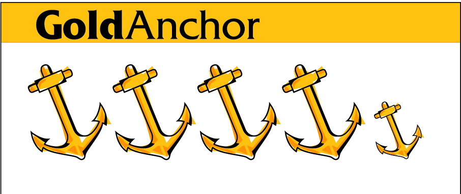 GOLD ANCHOR COLOUR 4.5 Anchors 2