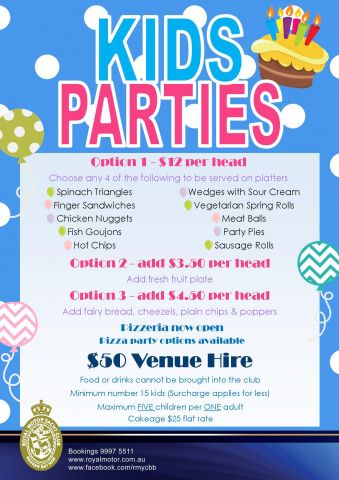 Kids Party Flyer 2016