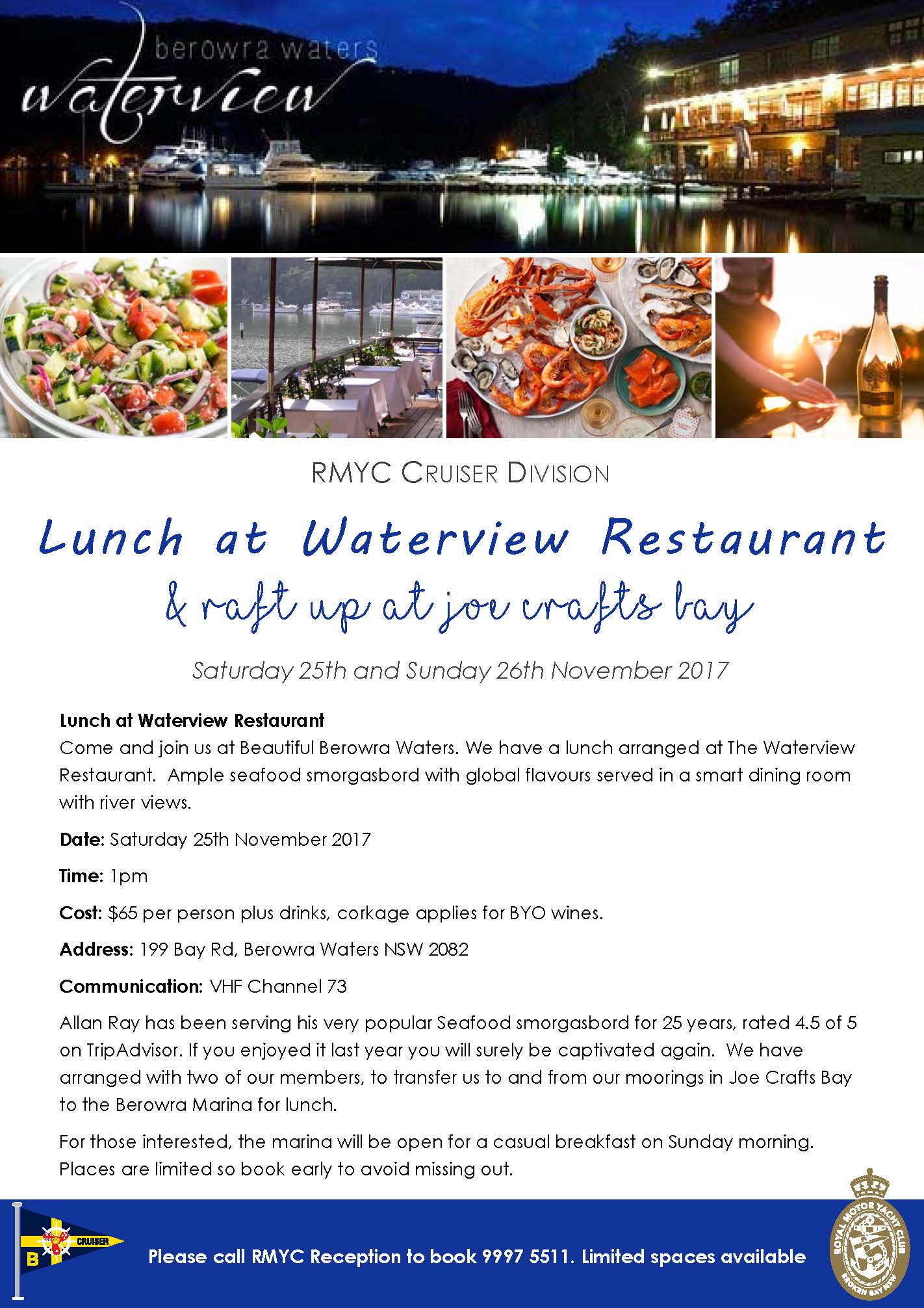 Lunch at Waterview Restaurant Berowra Waters V2