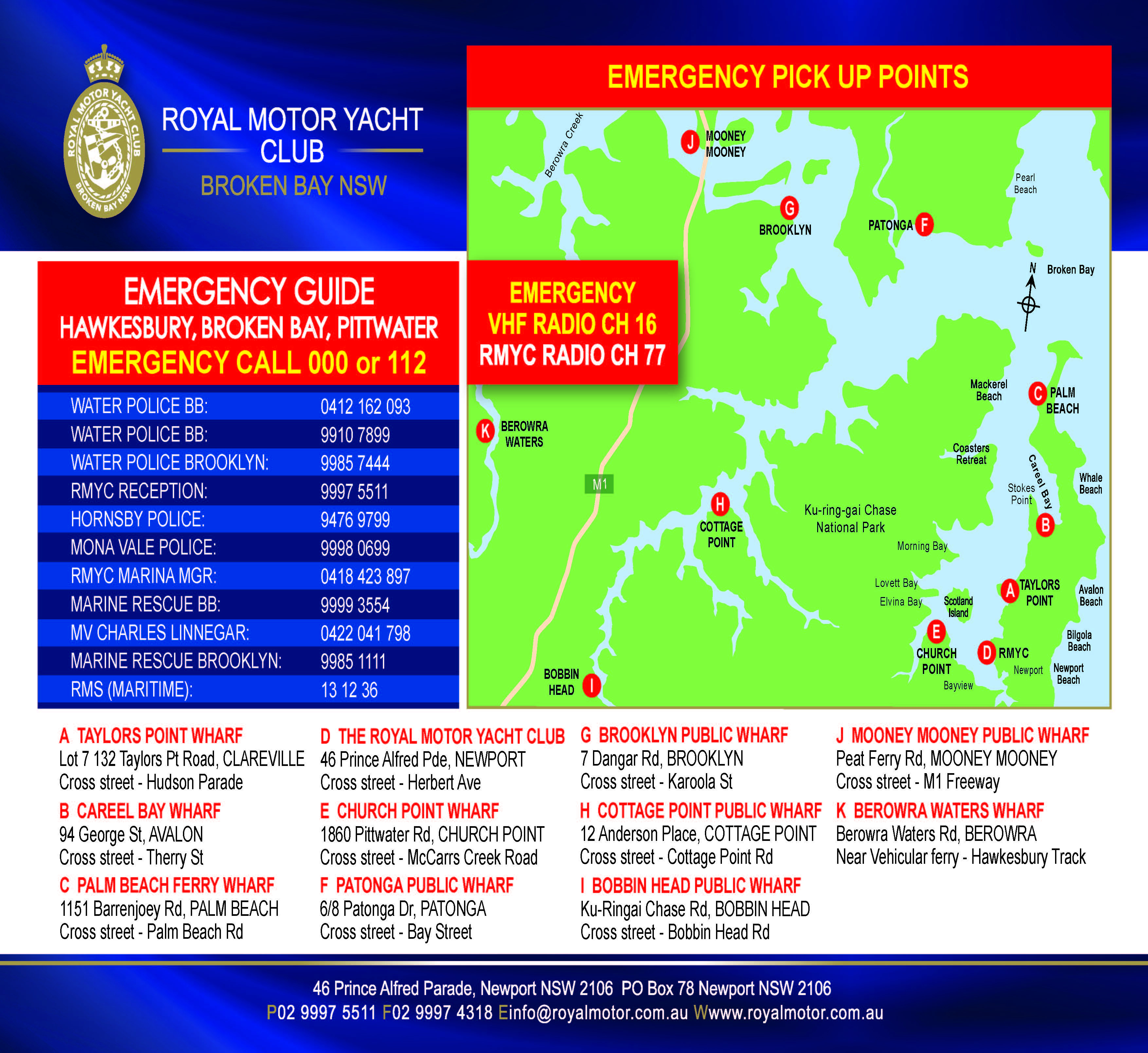 RMYC emergency full map 2016 A4