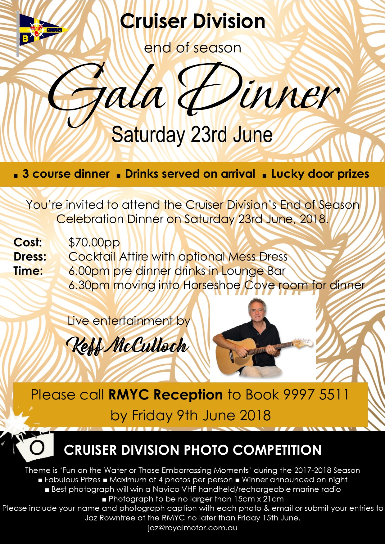 Cruiser Division Presentation Evening Flyer 2017