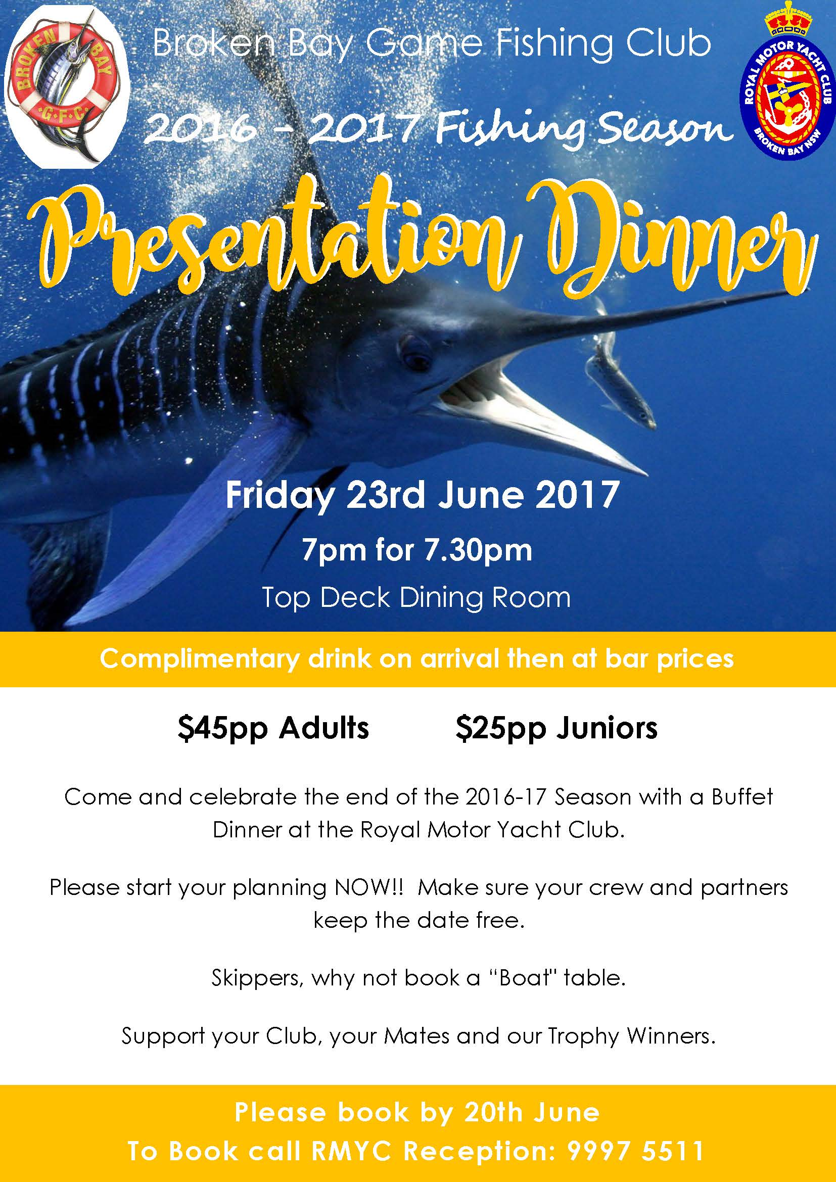2017 Game Fishing Presentation Evening Flyer