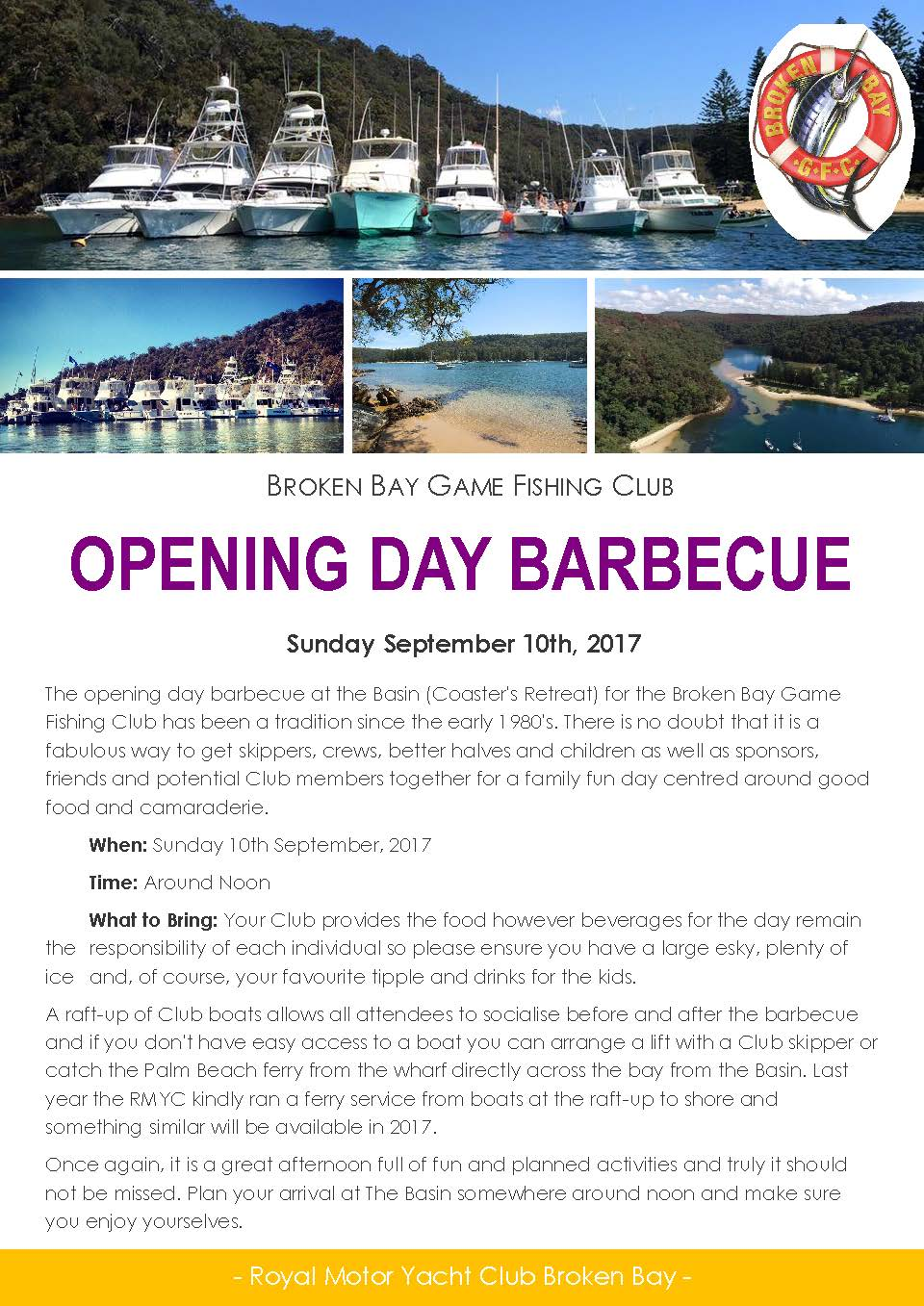 Opening Day BBQ Flyer 2017
