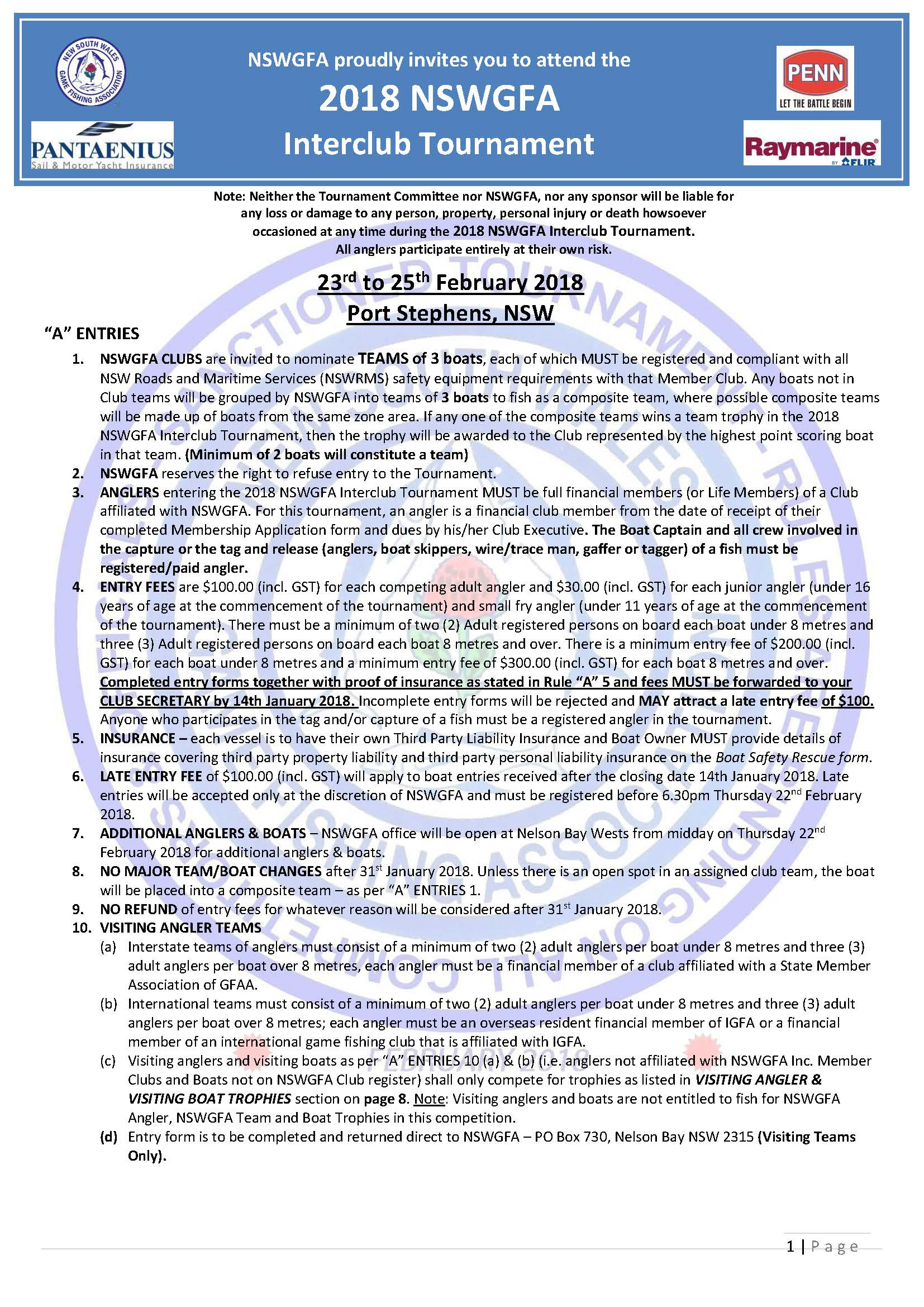 2018 interclub tournament rules entry form and safety form 1 Page 01