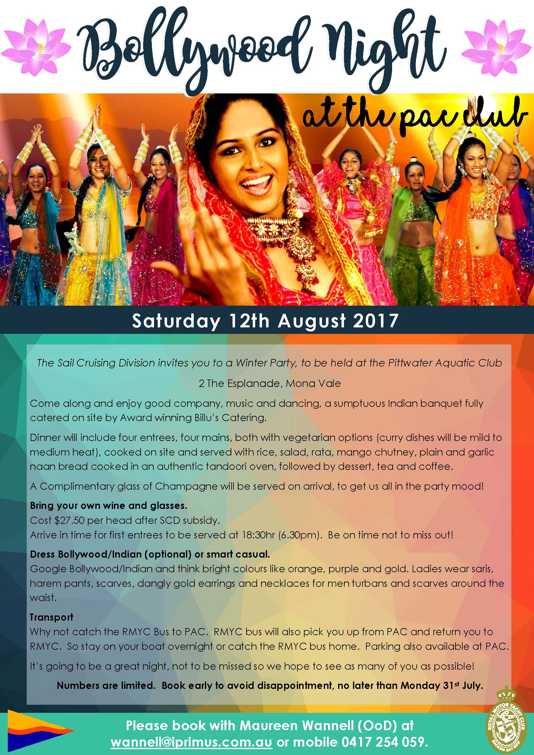 Bollywood night at PAC August 2017