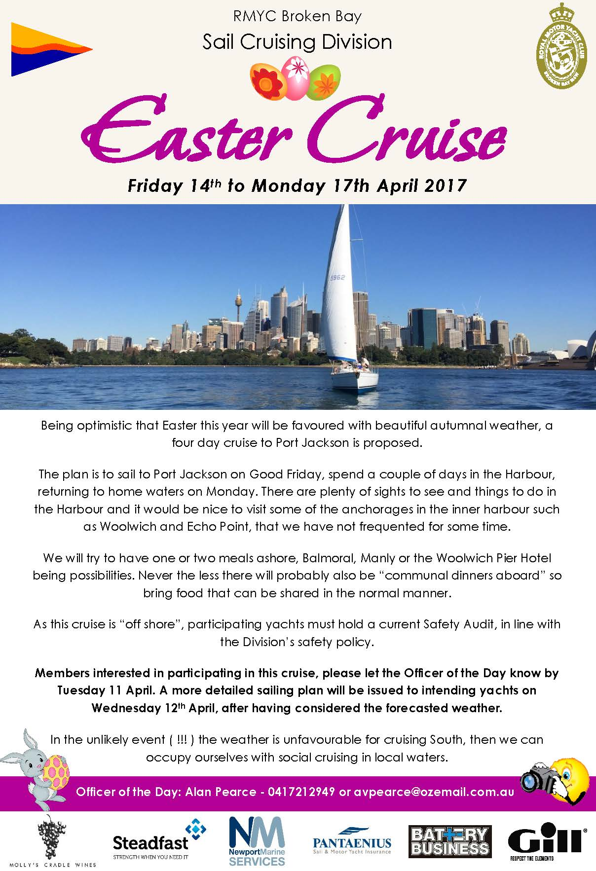Easter Cruise April 2017