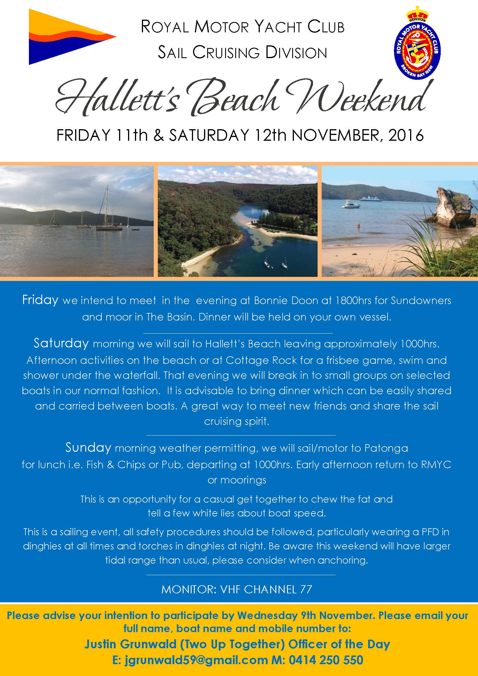 Halletts Beach Weekend 11th November 2016 V2
