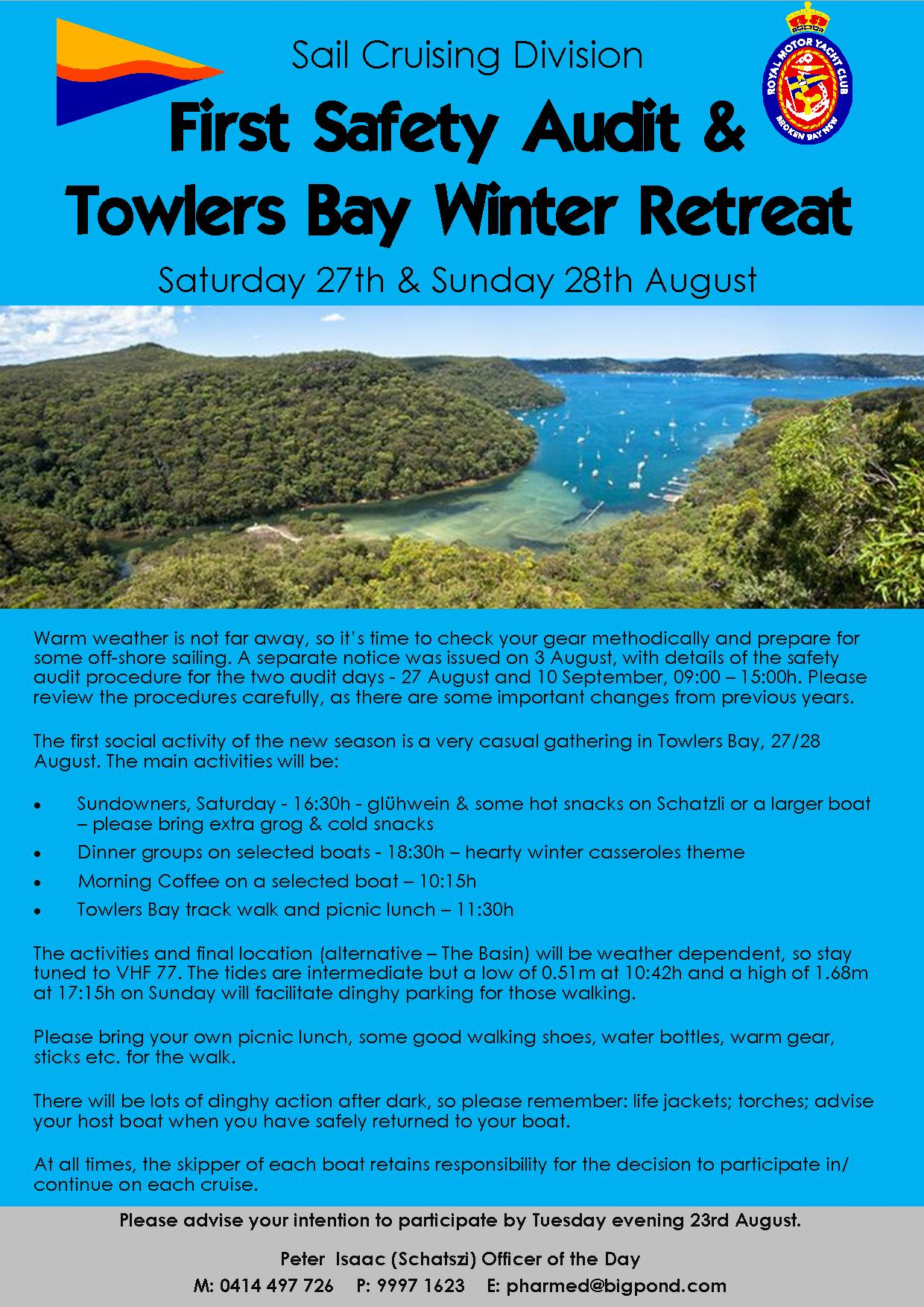 Safety audits Towlers Bay Winter Retreat 3