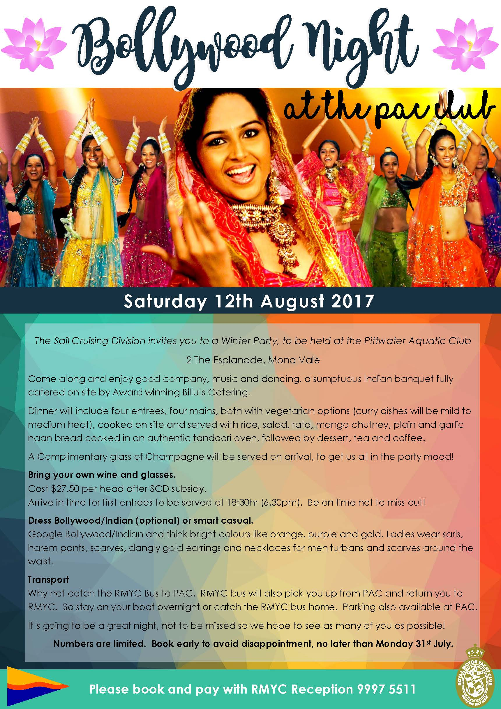Bollywood night at PAC August 2017 V2