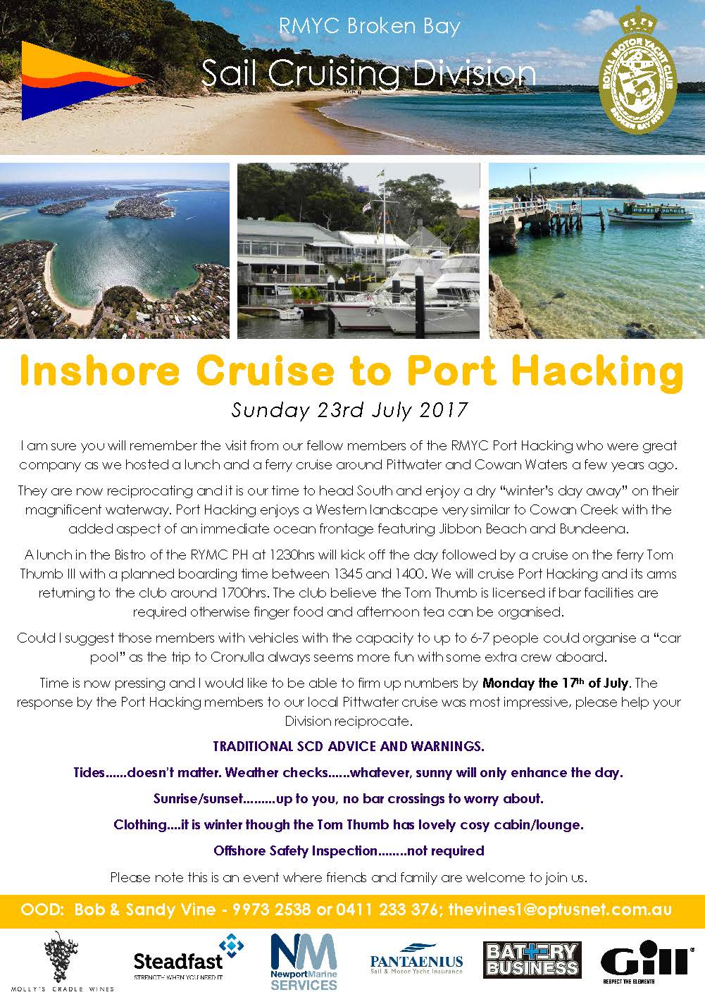Inshore cruise to Port Hacking