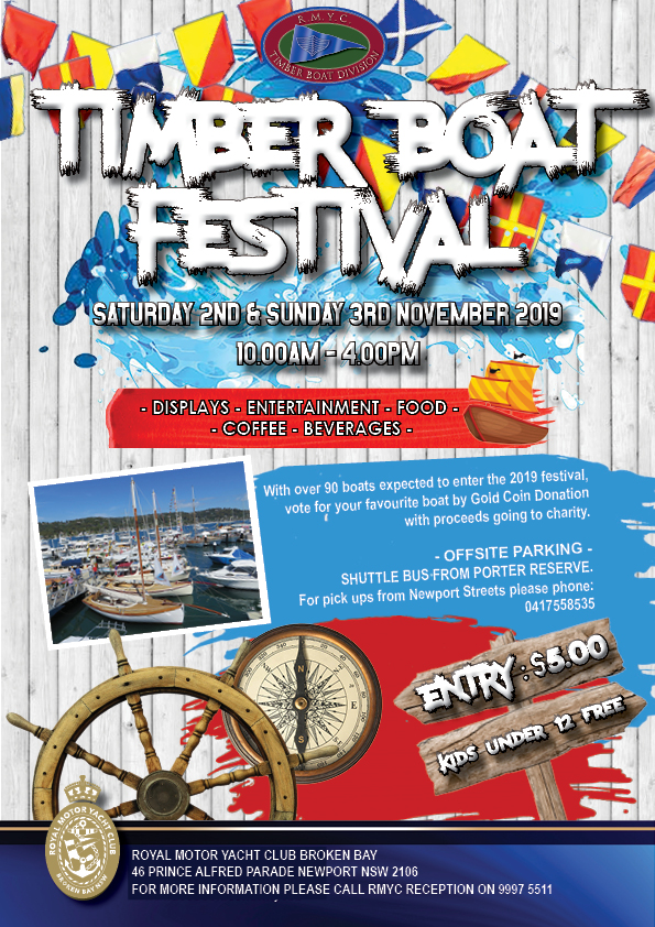Timber Boat Festival Flyer