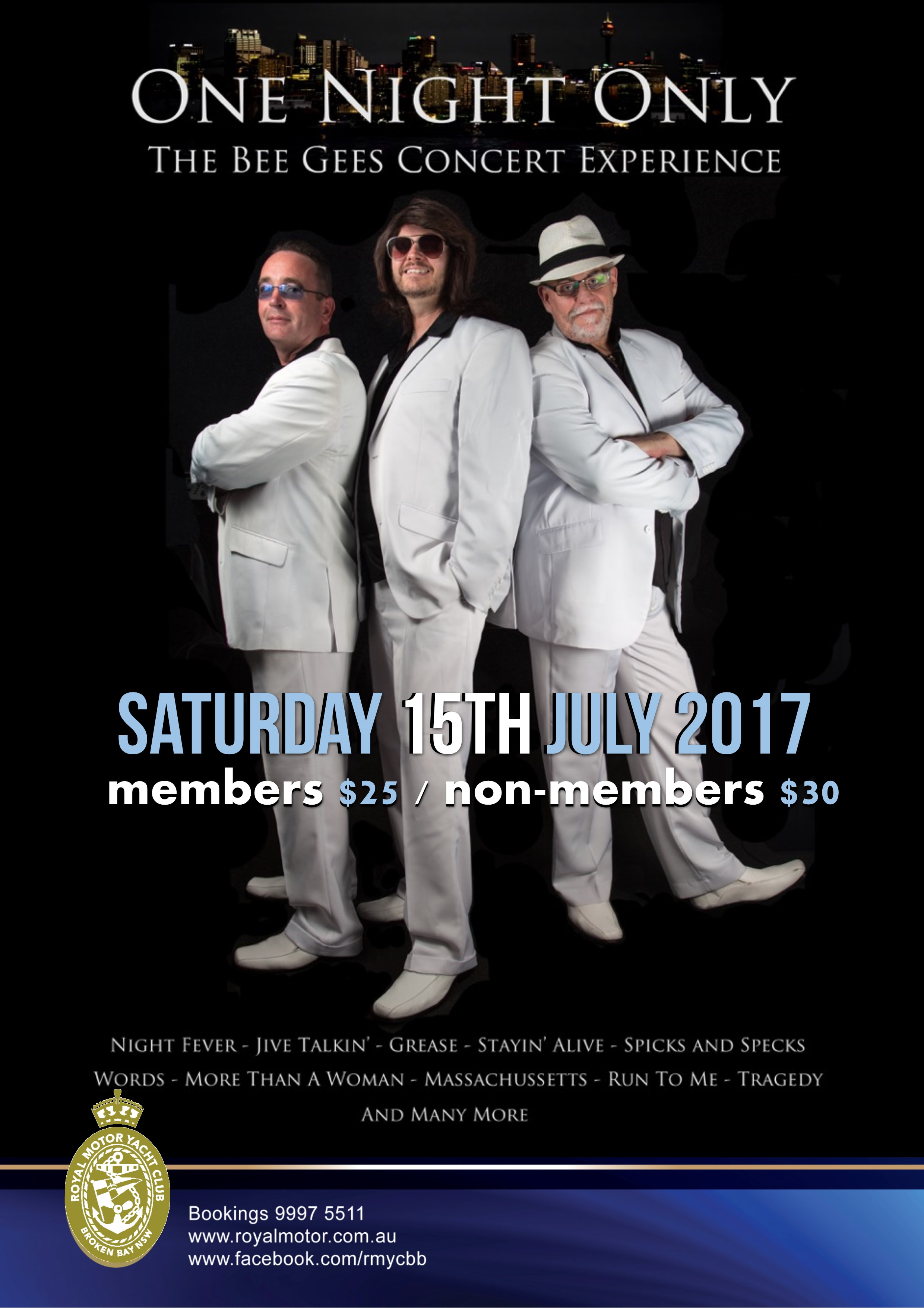 ONE NIGHT ONLY - BEE GEES TRIBUTE